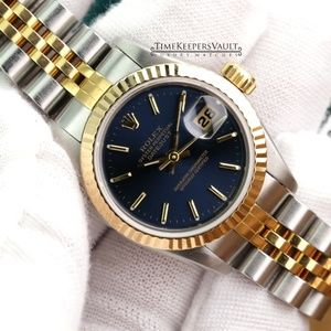 Rolex Lady Datejust Two-tone Blue Dial 26mm Watch
